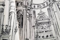 sketch from church in Vienna